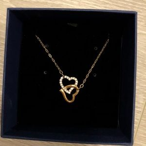 Swarovski Double Heart Necklace